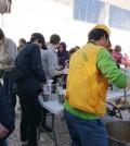 Veganes Essen für Flüchtlinge auf der Insel Chios, Griechenland