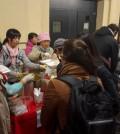 Vegane Nahrungsmittel und Hilfsgüter für die Flüchtlinge in Wien, Österreich