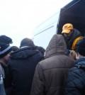 Heizgeräte für Flüchtlinge in Grand-Synthe, Nordfrankreich