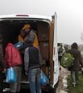 Humanitäre Hilfe für die Flüchtlinge in Nordfrankreich