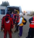 提供克羅埃西亞和塞爾維亞難民素食與保暖用品
