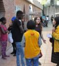 為北義大利文堤米利亞鎮難民庇護所提供所需物資